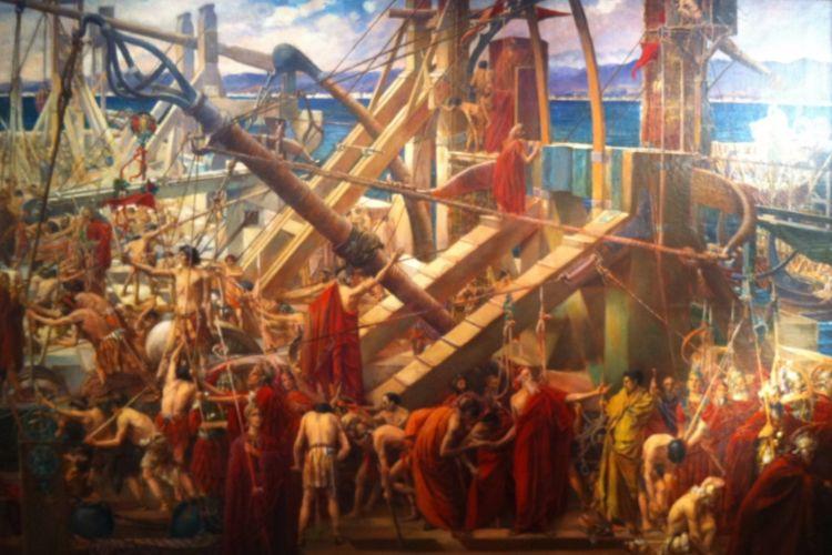 Archimedes tijdens de Slag bij Syracuse