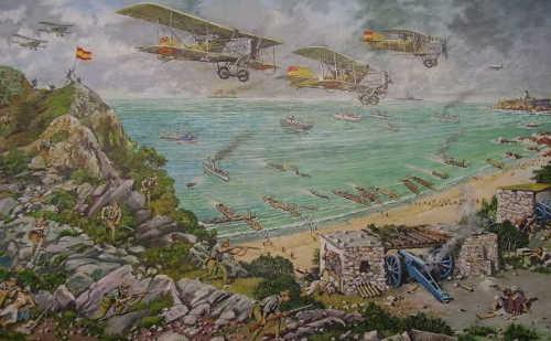 De landing bij Alhucemas in 1925