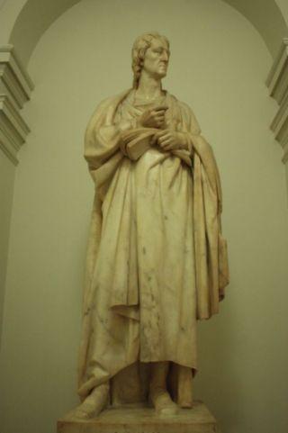 Beeld van John Locke van de gand van Richard Westmacott - University College, London (cc)