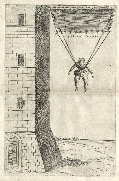 De schets van Faust Vrančić in 'Machinae Novae'