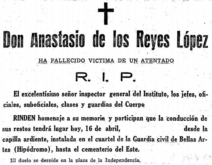 Overlijdensbericht De los Reyes