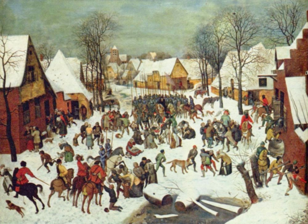 Pieter Bruegel de Oude (1525–1569), Kindermoord te Bethlehem - 1566-1567. Kunsthistorisches Museum, Wenen
