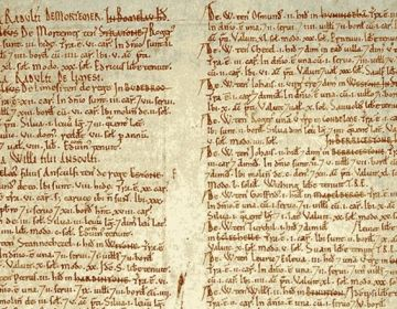 Detail van het Domesday Book