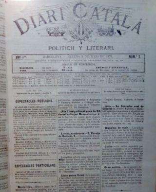 Voorpagina van Diari Català (wiki)