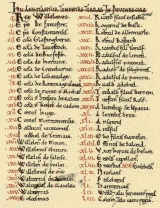 Fragment uit het Domesday book