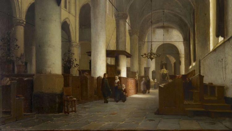 Interieur van de Grote Kerk te Naarden - Jan Jacob Schenkel, detail (Grote Kerk Naarden)