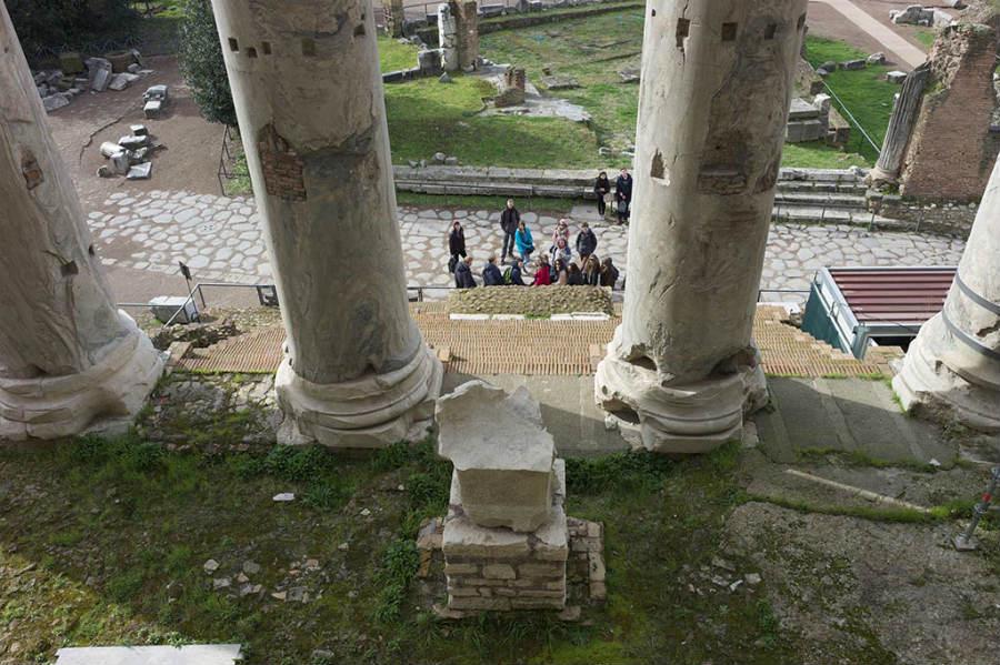 Foto gemaakt op het Forum Romanum (Alexander Smarius)
