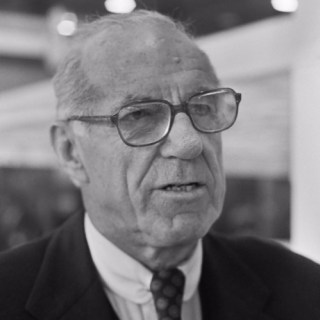 kinderpsycholoog Benjamin Spock in 1976. Bron: Nationaal Archief