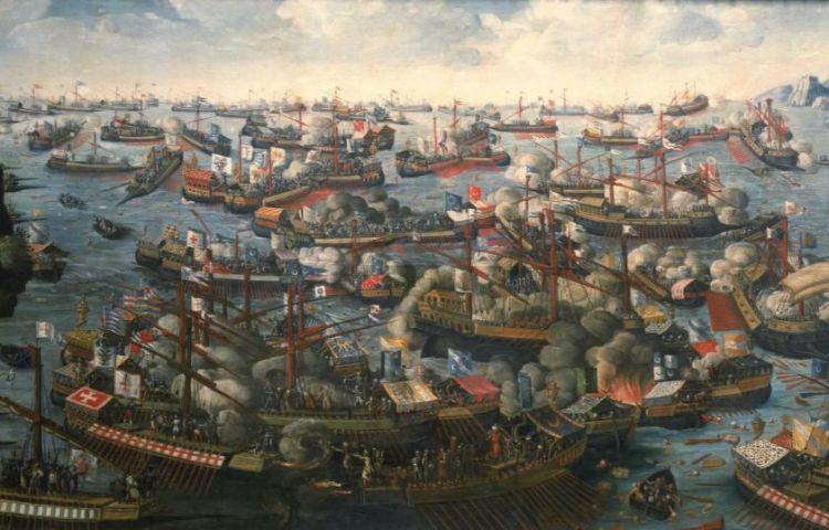 De Slag bij Lepanto (schilder onbekend)