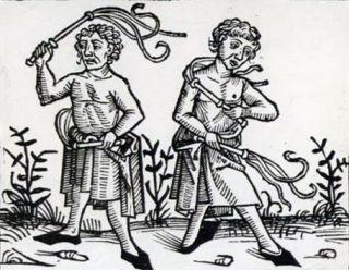 Twee flagellanten (vijftiende eeuw)