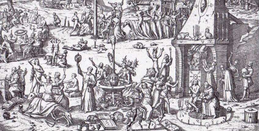 Heksendansplaats in Trier 1594