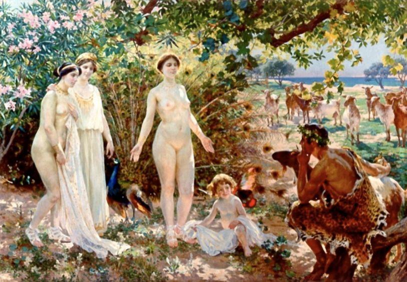 Het oordeel van Paris (1904) - Enrique Simonet