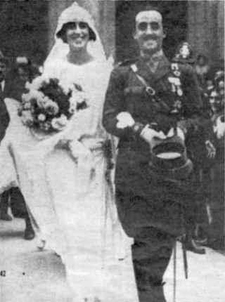 Huwelijk Franco met doña Carmen Polo