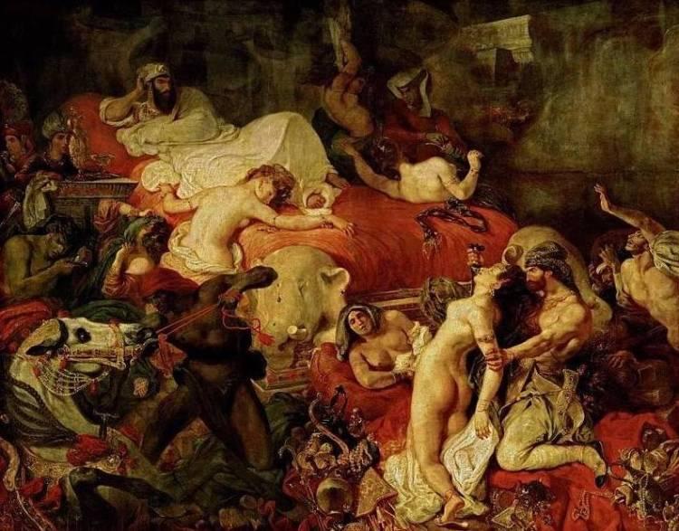 De dood van Sardanapalos - Eugène Delacroix (1827)