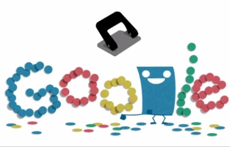 Perforator in de Doodle van Google