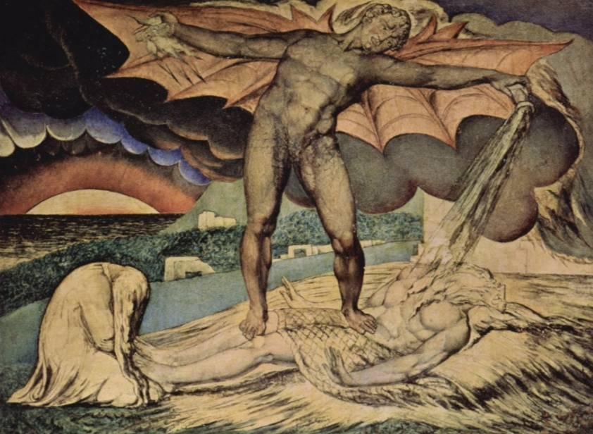 Satan stort zijn plagen over Job uit - William Blake, 1826/27, Tate Gallery Londen