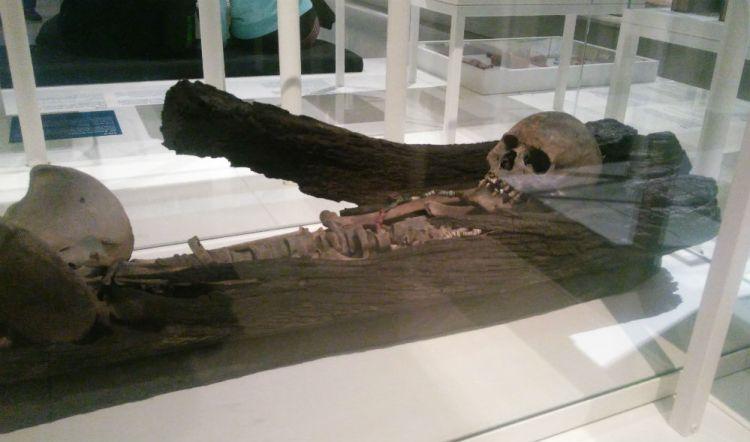 De boomkistdame, zoals te zien in het Fries Museum (Historiek)