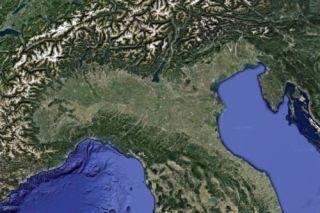 Povlakte, Italië. Beeld Google earth.