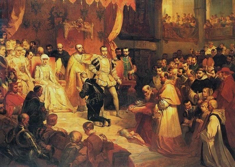 De overdracht der Nederlanden in 1555