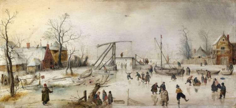 IJsgezicht. ca. 1610-1620 - Hendrick Avercamp (National Gallery of Ireland)