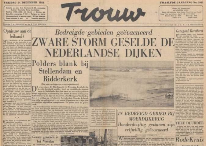 Na-oorlogse uitgave van Trouw (Delpher)
