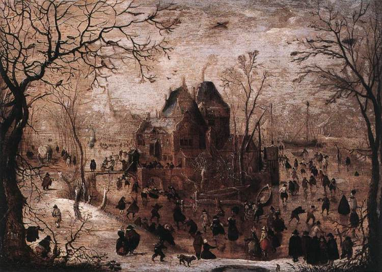 Winterlandschap. 1601-1615 - Hendrick Avercamp (Wallraf-Richartz-Museum, Keulen)