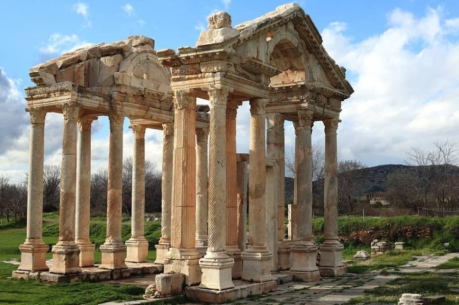Restant van een Romeinse tempel (cc - Pixabay)