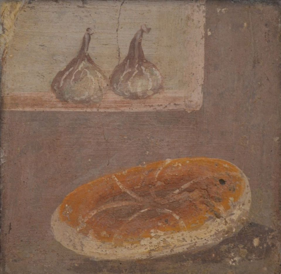 Fresco van een Romeins brood - wikicommons