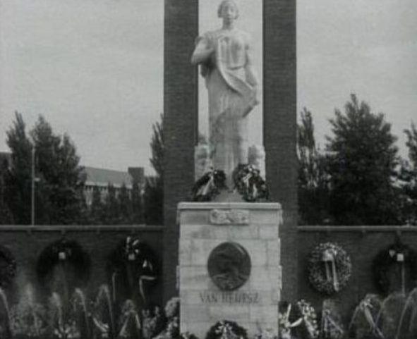 Monument in Amsterdam bij de onthulling in 1935 - wiki