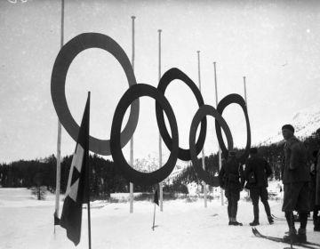 Sankt Moritz tijdens de Olympische Wintespelen van 1928 - wiki