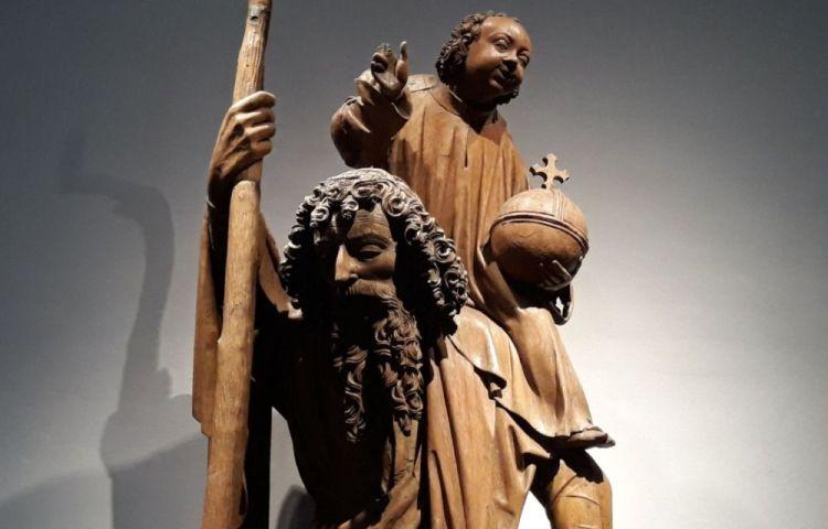 Sint Christoffel als Christusdrager (Beeld Hendrick Drouwerman, ca. 1525 - Museum Catharijneconvent)