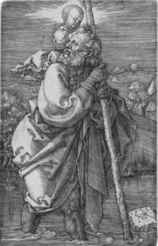 Sint-Christoffel volgens Albrecht Dürer - cc
