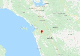 Soemoeran (nu:Sumuran) was halverwege de lange reis. (Google maps)