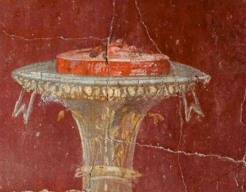 Fresco van een taart (Foto: Jeroen Savelkouls)