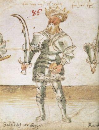 15e-eeuwse tekening van Saladin