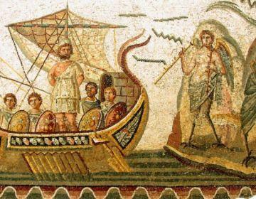 Mozaïek - Odysseus ontsnapt aan de Sirenen