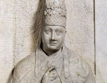 Paus Bonifatius VIII - en zijn 'Unam Sanctam' (wiki - Arnolfo di Lapo)