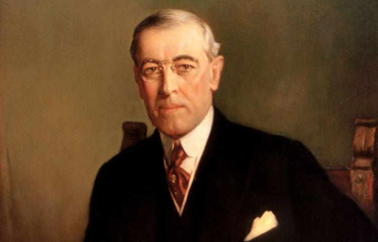 Staatsieportret van de Amerikaanse president Woodrow Wilson