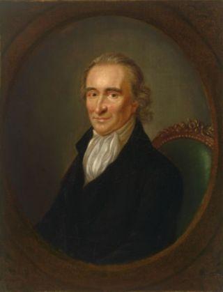 Thomas Paine, portret door Laurent Dabos (ca. 1792)