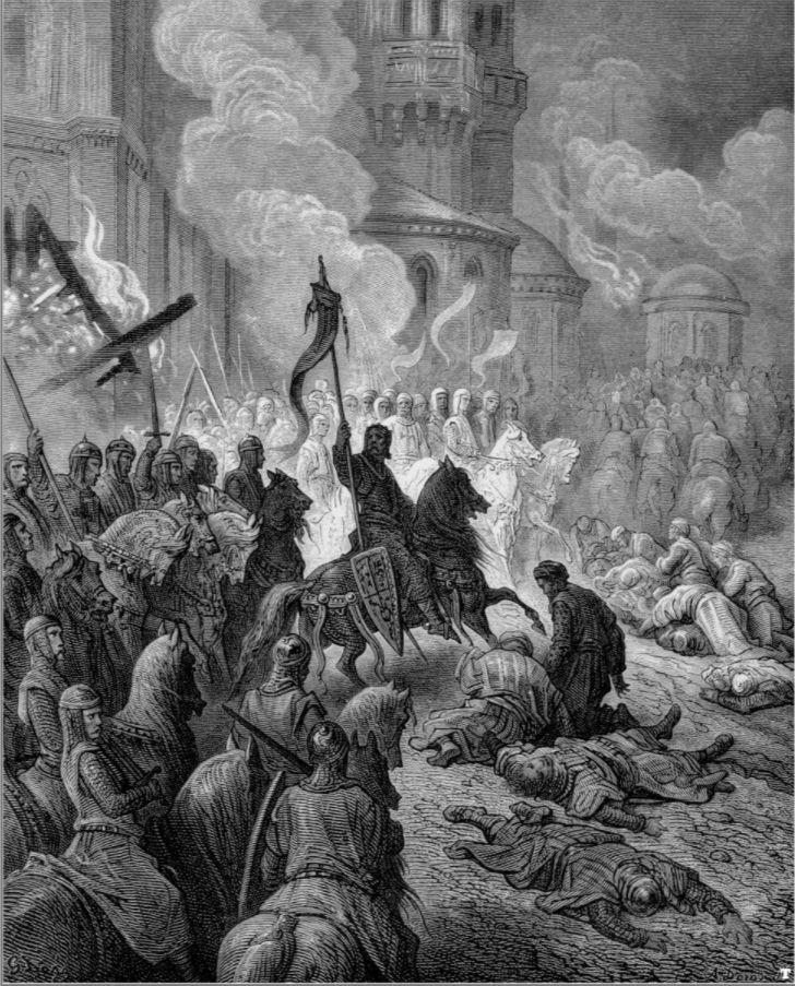 Vierde Kruistocht - Intocht van de kruisvaarders te Constantinopel in 1204, Gustave Doré