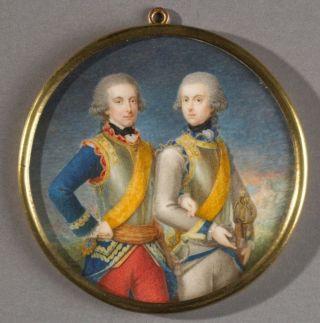 De twee zonen van Willem V. Willem Frederik (1772-1843), de latere koning Willem I en Frederik (1774-1799). Wikimedia Commons.