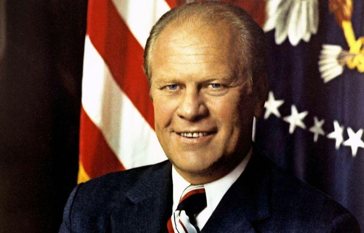 De Amerikaanse president Gerald Ford