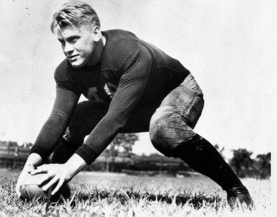 Gerald Ford als lid van het footballteam van de universiteit van Michigan, 1933