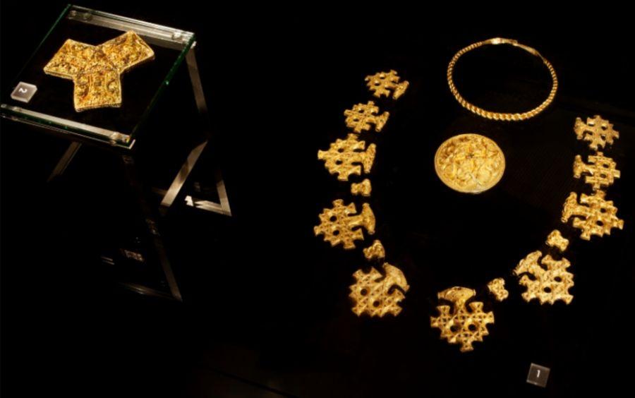 Gouden sieraden van de Hiddensee (cc - Nationalmuseet)