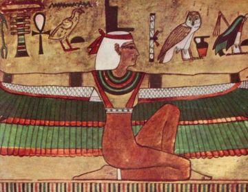 Monotheïsme & polytheïsme - Egyptische godin Isis, grafschildering, ca. 1360 v.Chr.