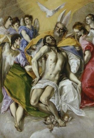 God de Vader, de Zoon en de Heilige Geest door El Greco