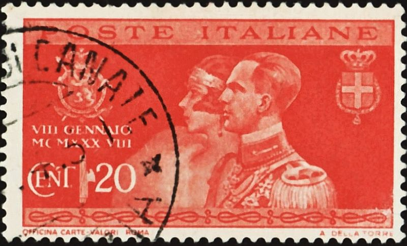 Postzegel uit 1930 n.a.v. het huwelijk van Marie-José en Umberto (1930)