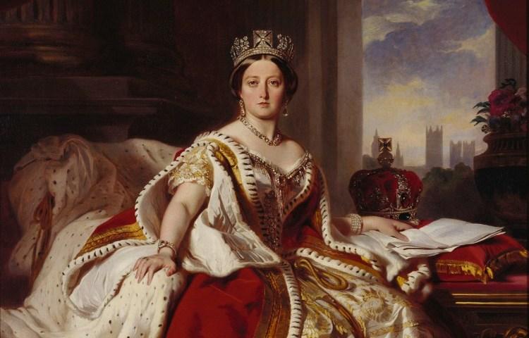 Koningin Victoria op jongere leeftijd.