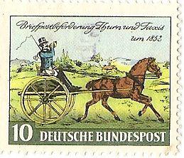 Postzegel van de Thurn und Taxis-post in 1852 (wiki)