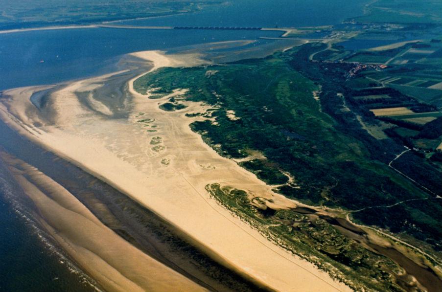 De Kwade Hoek, luchtfoto uit 1987.